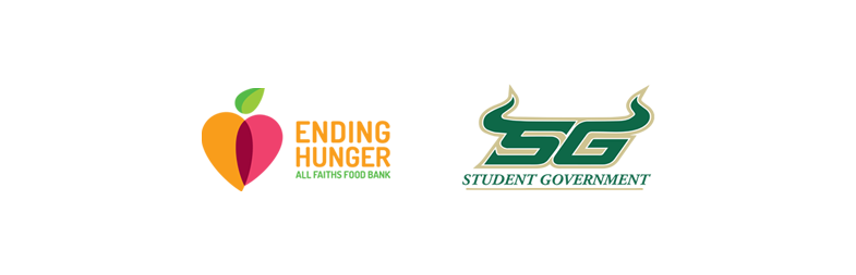 Logos: All Faiths Food Bank and USF Sarasota-Manatee Student Government Association